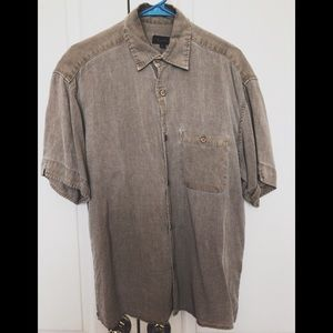 True Grit Men's Camp Shirt Silk Blend S
